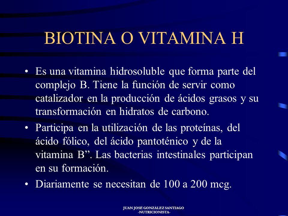 JUAN JOSÉ GONZÁLEZ SANTIAGO -NUTRICIONISTA- El tratamiento varía, por ejemplo si hay malabsorción intestinal se administrará la vitamina E por vía int