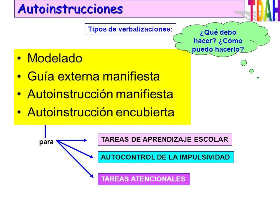 Reforzamiento de la conducta diferencial e incompatible con la de excesivo movimiento. Economía de fichas. Extinción. No refuerzo de las conductas ina