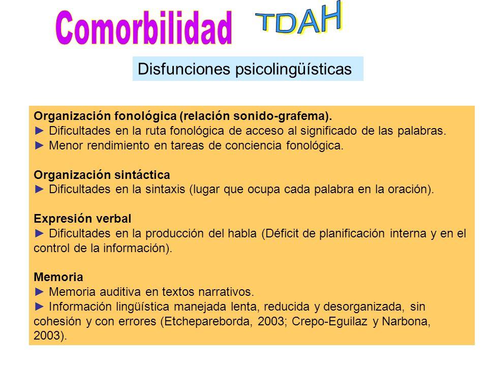 DISLEXIATDAH Deficiencia fonológica influye en la MT La MT deficitaria influye en los otros módulos cognitivos relacionados con el trastorno Una baja
