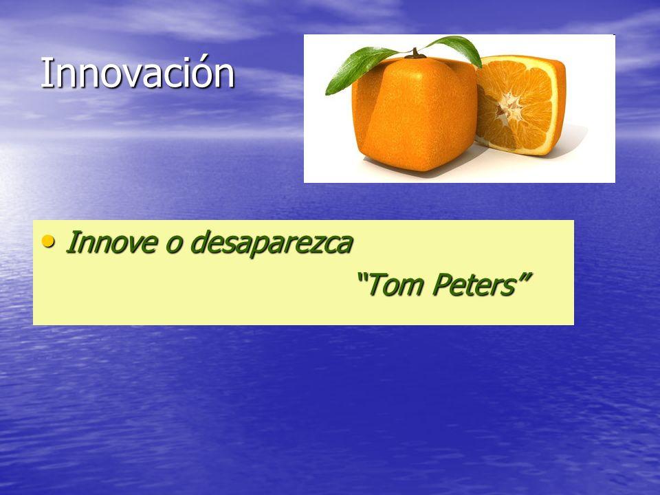 Innove o desaparezca Innove o desaparezca Tom Peters Tom Peters Innovación
