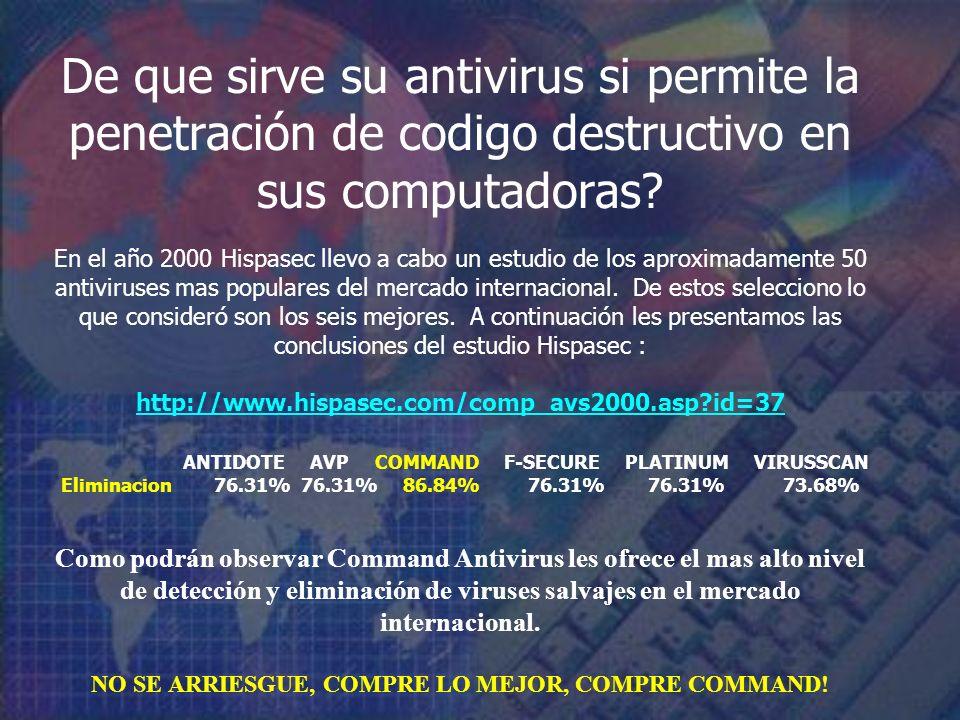 De que sirve su antivirus si permite la penetración de codigo destructivo en sus computadoras.