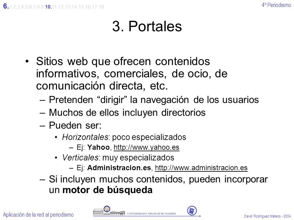 4º Periodismo Aplicación de la red al periodismo David Rodríguez Mateos - 2004 3.
