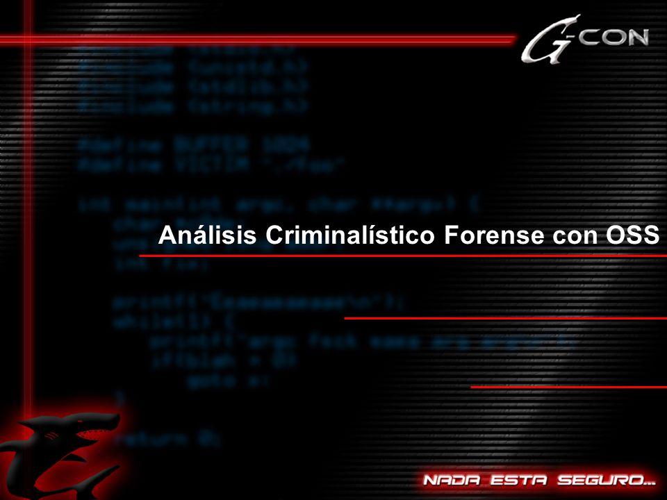 Análisis Criminalístico Forense con OSS