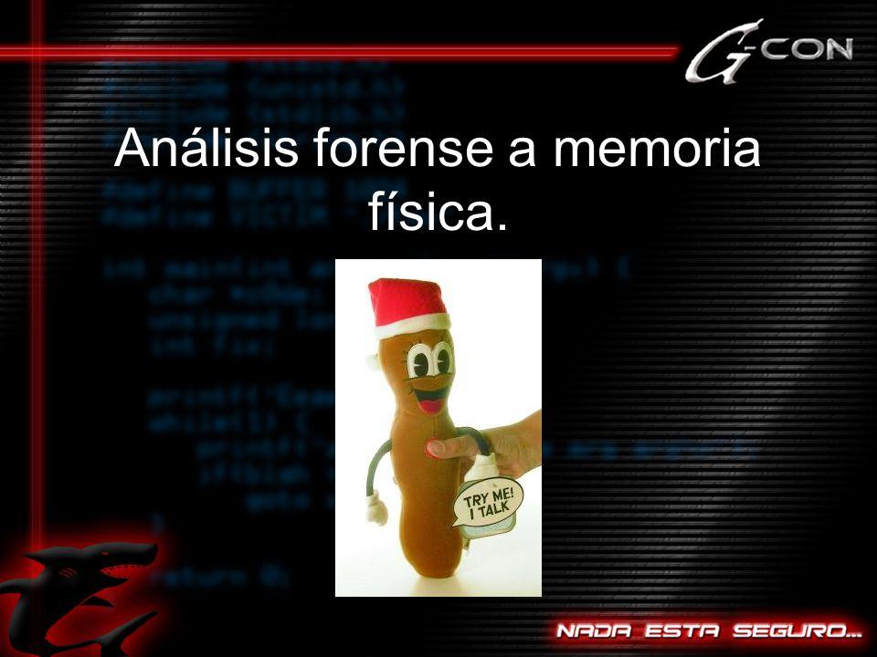 Análisis forense a memoria física.