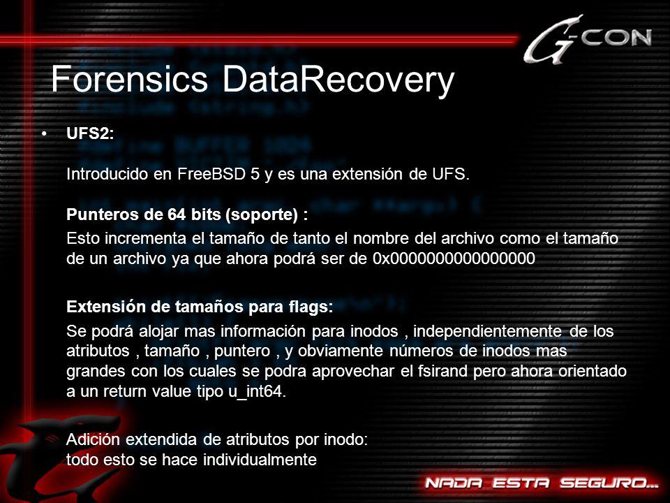 UFS2: Introducido en FreeBSD 5 y es una extensión de UFS.