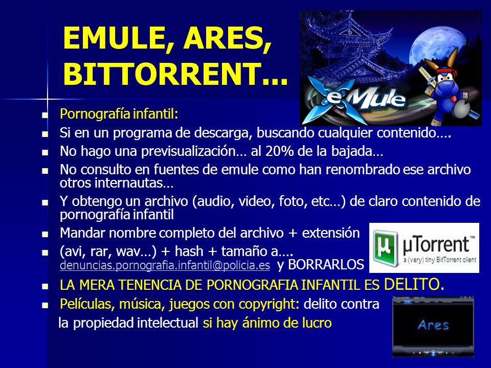11 EMULE, ARES, BITTORRENT...