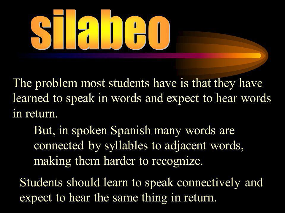 ** There is a strong tendancy towards an open syllable (syllable that ends in a vowel) In the Spanish language.