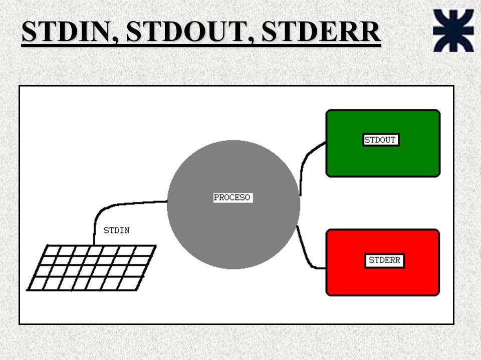 STDIN, STDOUT, STDERR