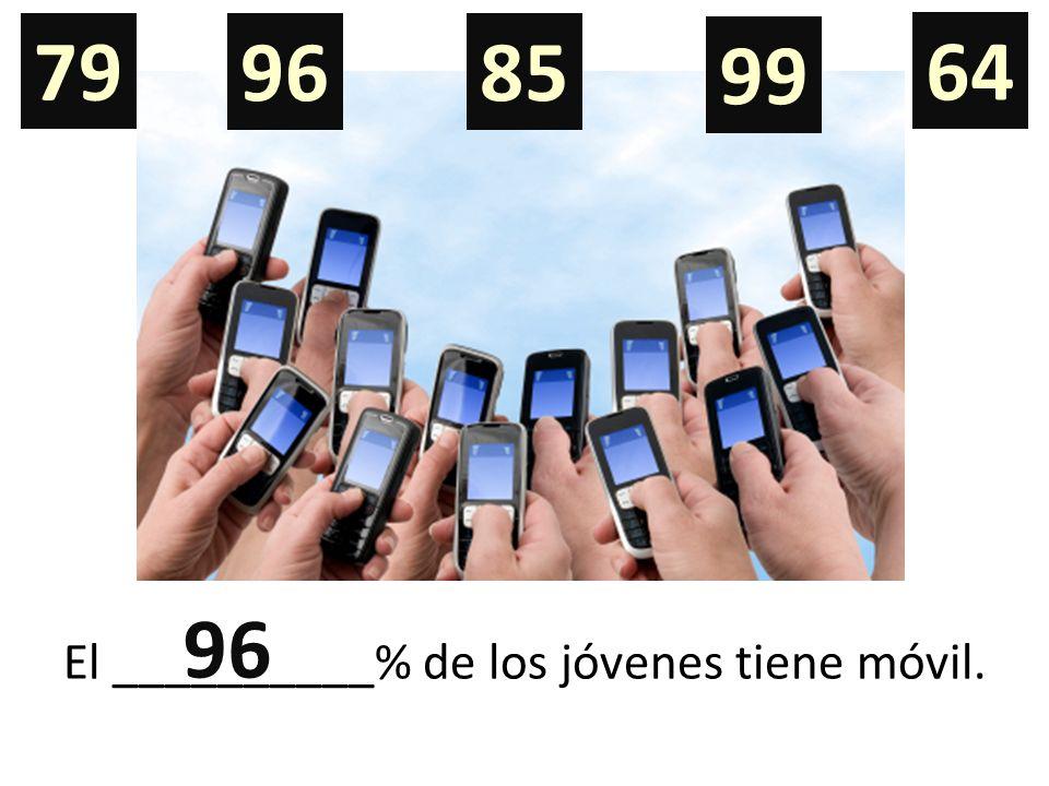 El __________% de los jóvenes tiene móvil. 79 9685 99 64 96