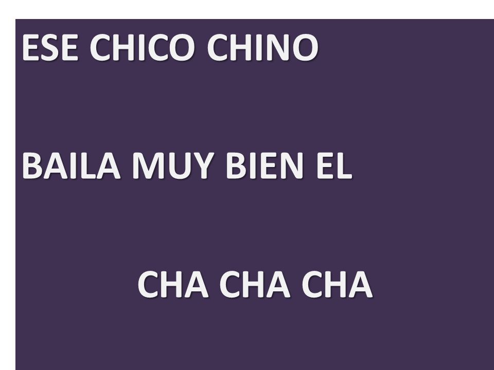 ESE CHICO CHINO BAILA MUY BIEN EL CHA CHA CHA