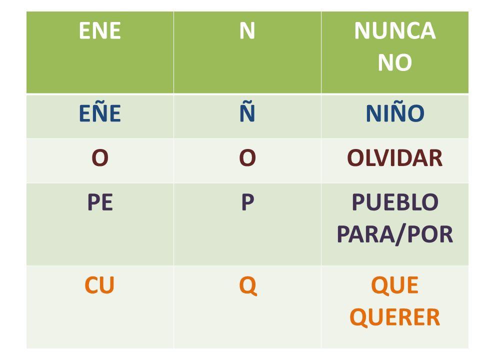 ENENNUNCA NO EÑEÑNIÑO OOOLVIDAR PEPPUEBLO PARA/POR CUQQUE QUERER