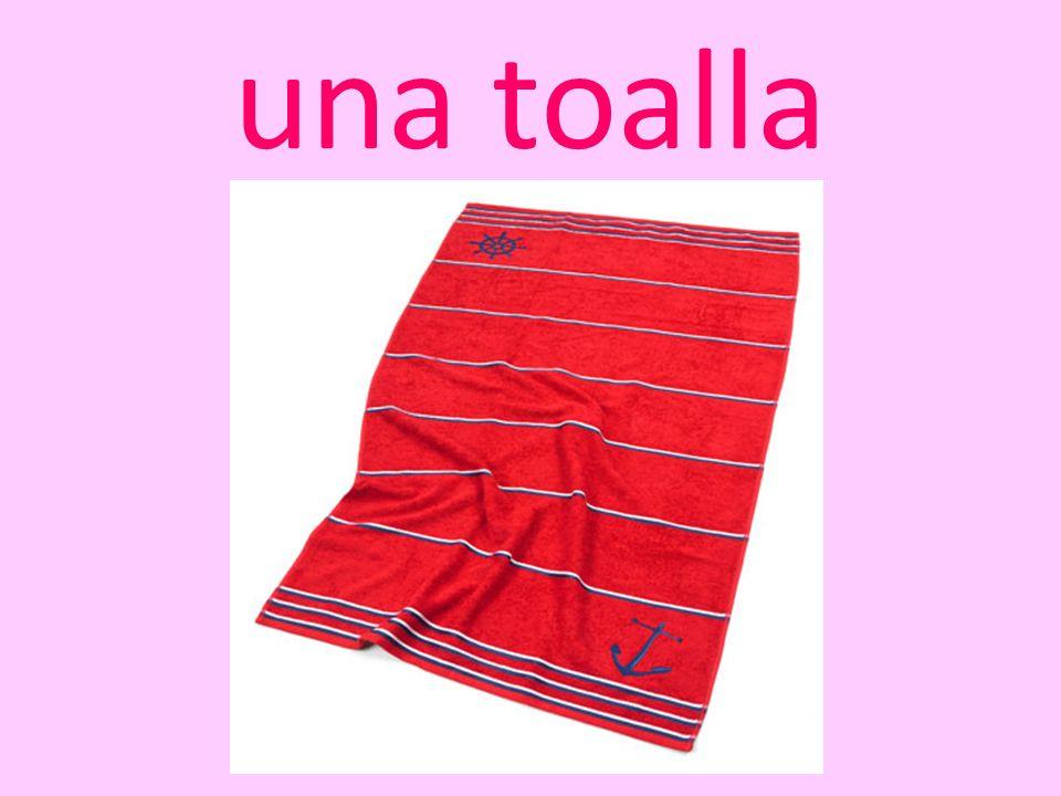 una toalla