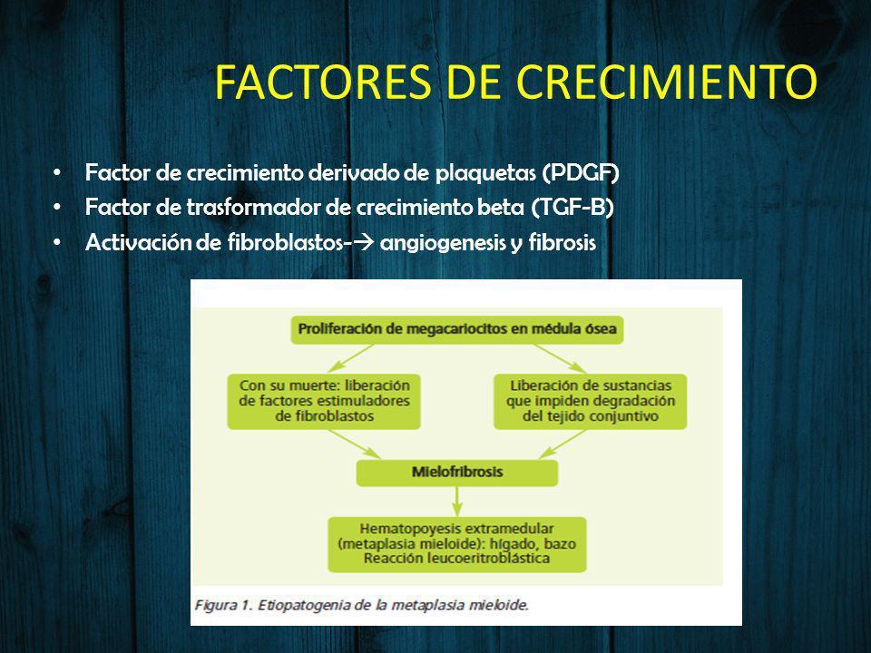 FACTORES DE CRECIMIENTO Factor de crecimiento derivado de plaquetas (PDGF) Factor de trasformador de crecimiento beta (TGF-B) Activación de fibroblast