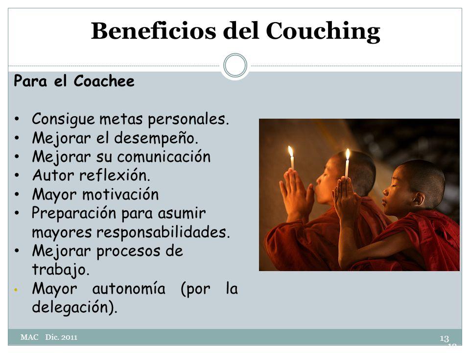 Beneficios del Couching Para el Coachee Consigue metas personales.