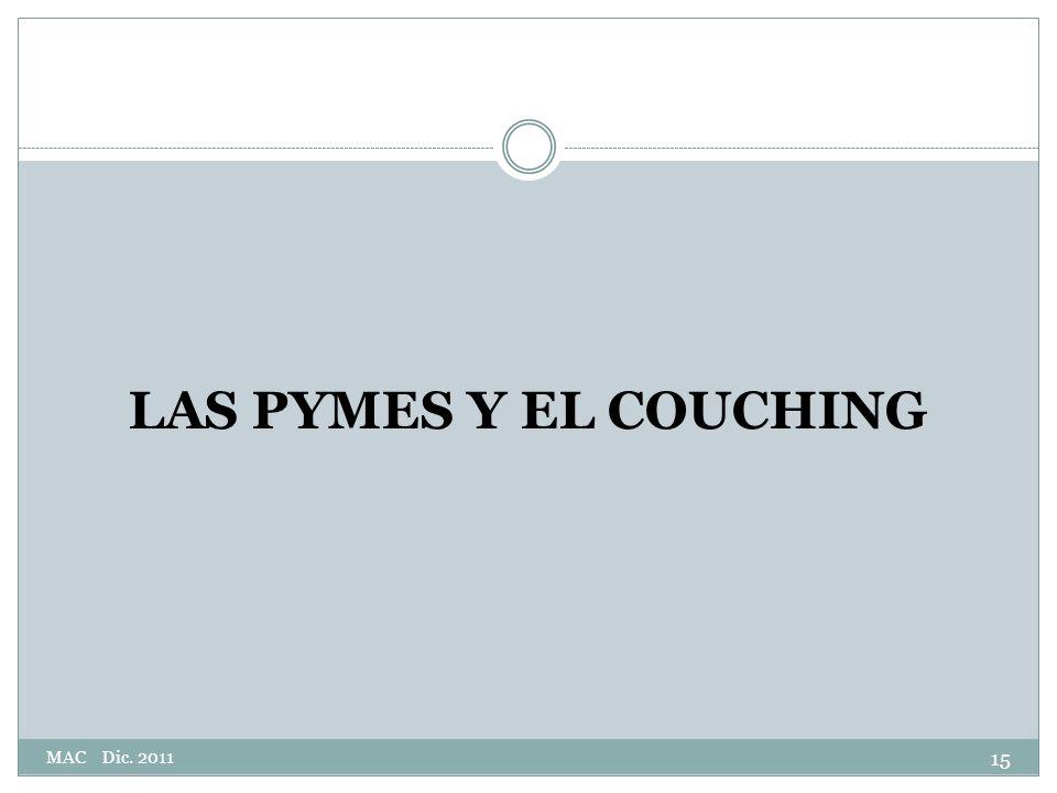 LAS PYMES Y EL COUCHING 15 MAC Dic. 2011