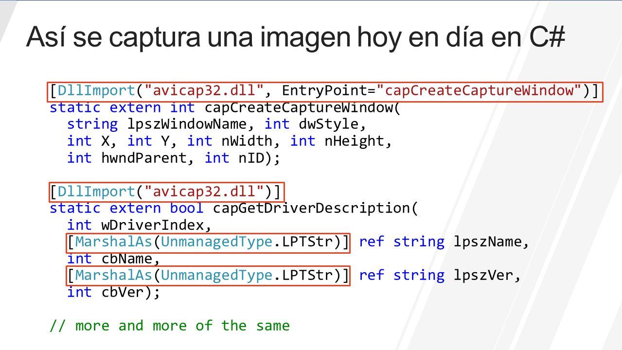 Así se captura una imagen hoy en día en C#