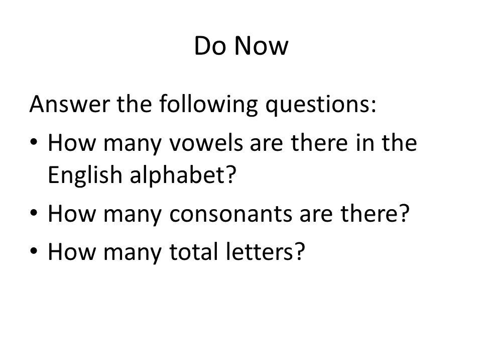 El alfabeto - Notes The Spanish alphabet looks the same as the English alphabet, plus the Ñ ñ There are 5 vowels in the Spanish alphabet: -- a, e, i, o, u.