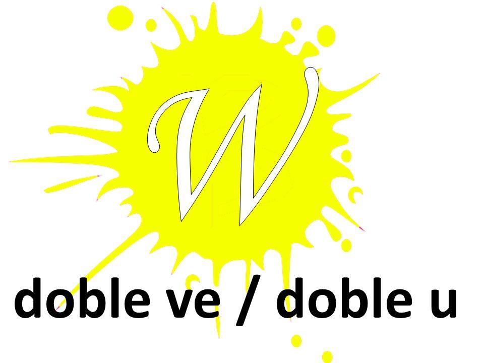 doble ve / doble u