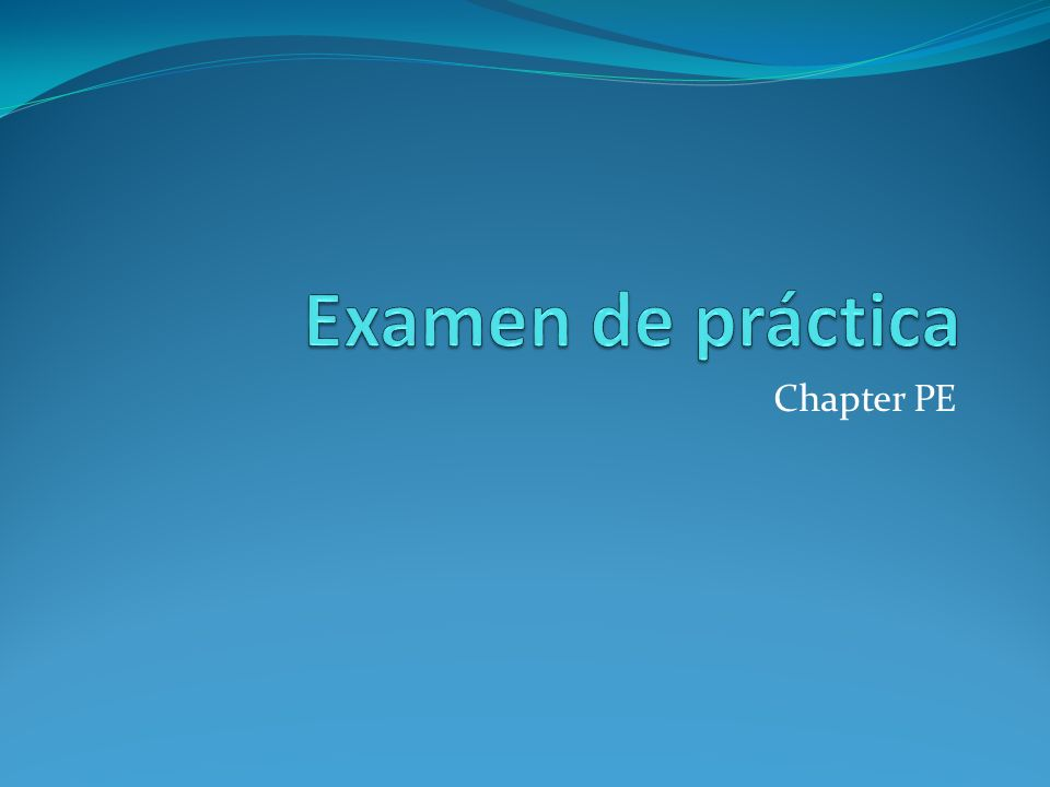 Chapter PE
