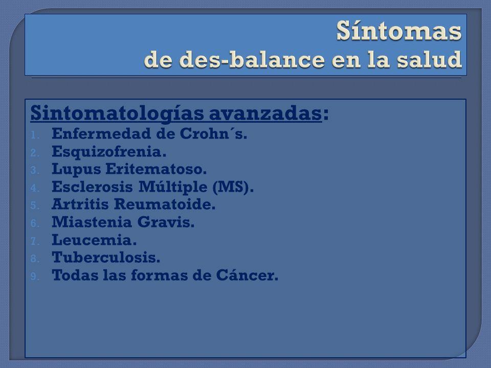 Sintomatologías avanzadas: 1.Enfermedad de Crohn´s.