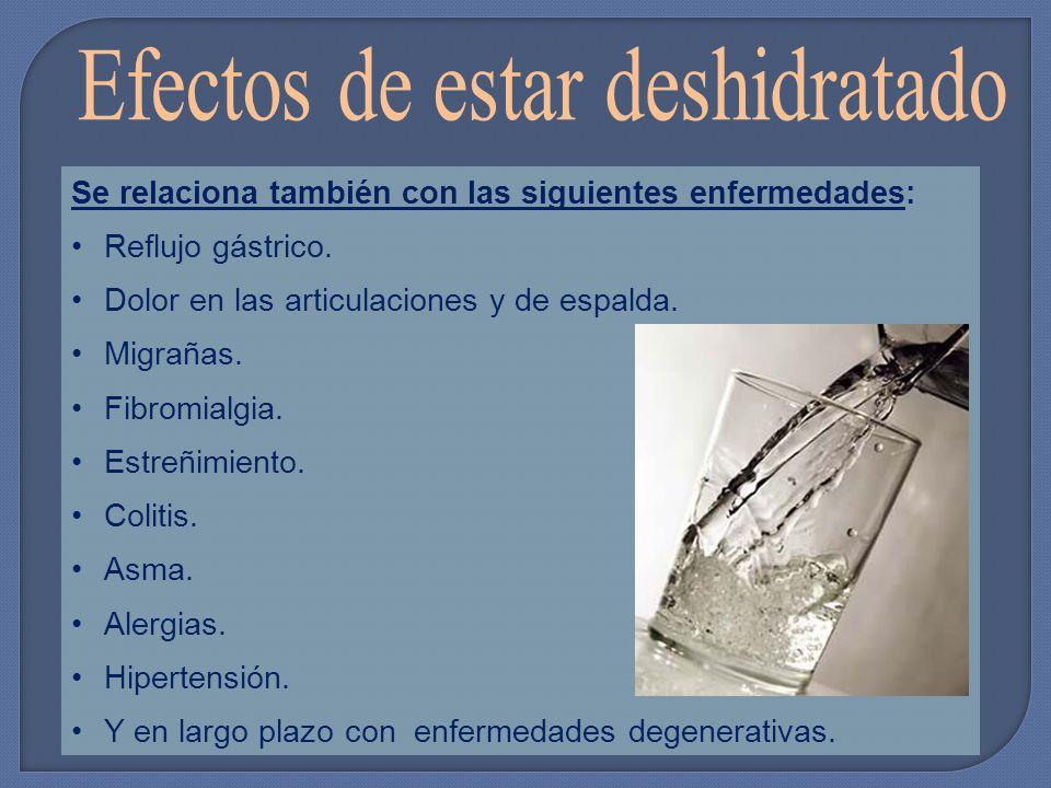 Se relaciona también con las siguientes enfermedades: Reflujo gástrico.