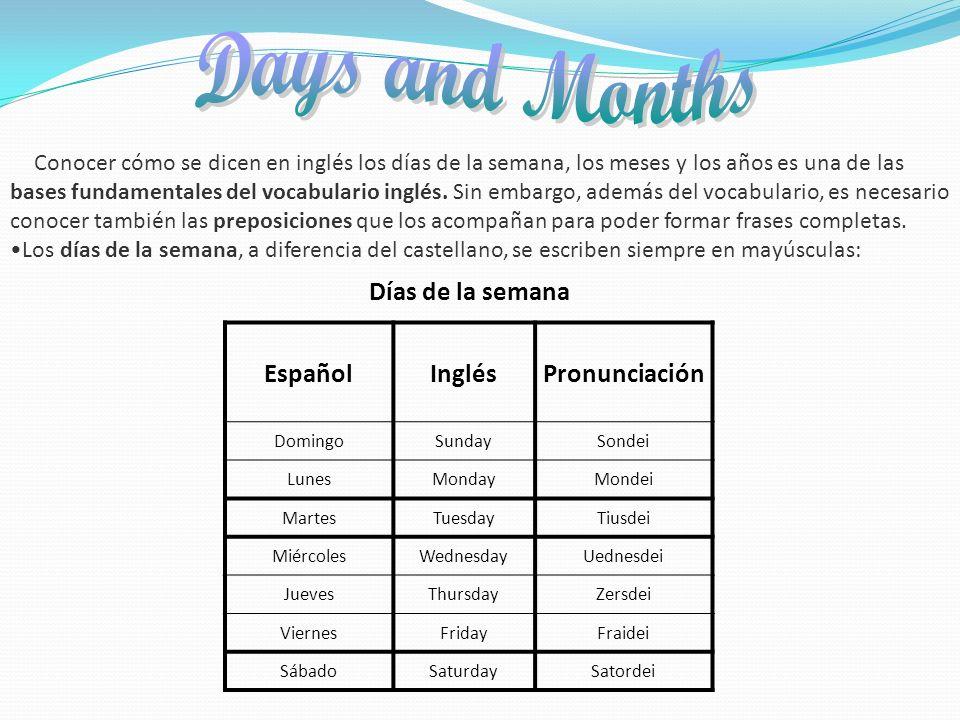 Conocer cómo se dicen en inglés los días de la semana, los meses y los años es una de las bases fundamentales del vocabulario inglés. Sin embargo, ade