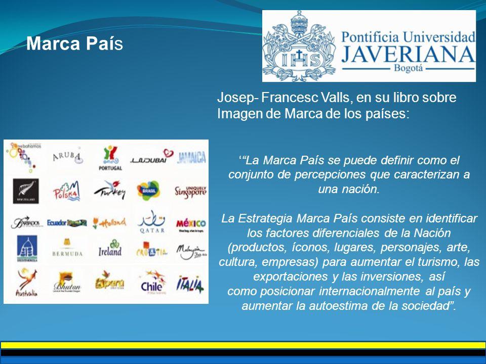 Por primera vez Colombia es mencionada en el estudio realizado por Future Brand, en una sección implementada en el 2007 al documento titulada Los Países en su momento.