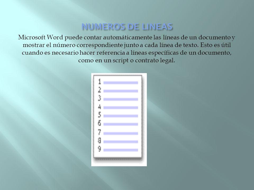 Microsoft Word puede contar automáticamente las líneas de un documento y mostrar el número correspondiente junto a cada línea de texto. Esto es útil c