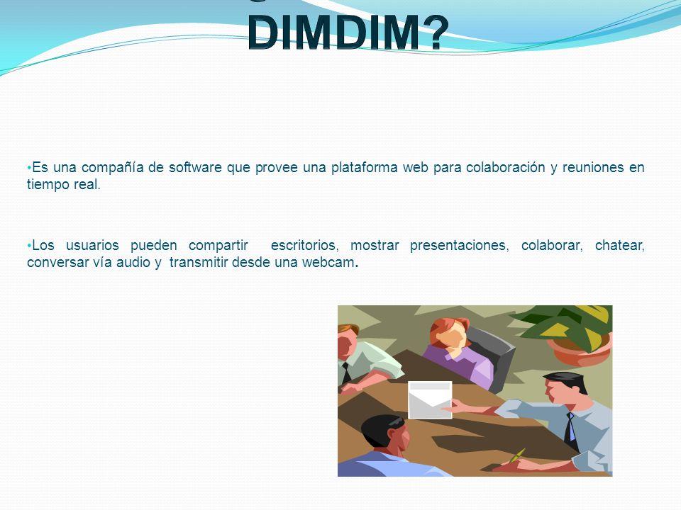 Es una compañía de software que provee una plataforma web para colaboración y reuniones en tiempo real. Los usuarios pueden compartir escritorios, mos