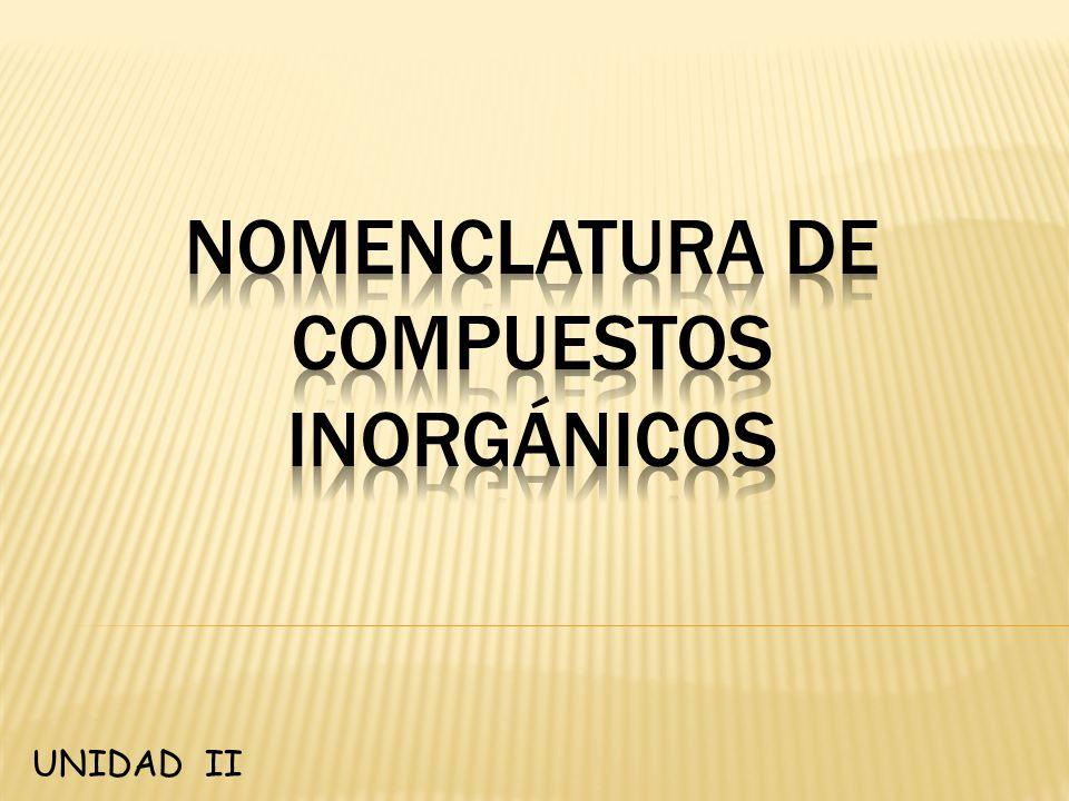Es el sistema de normas, comunes en todo el mundo, para denominar a los elementos y compuestos químicos.