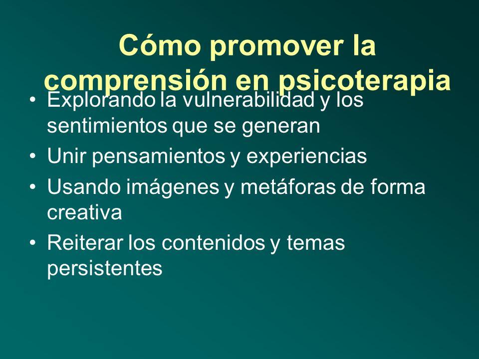 Metas en psicoterapia de infancia y adolescencia/3 Psicoterapia de apoyo Psicoterapia de expresión de emociones y relaciones Psicoterapia para aprende