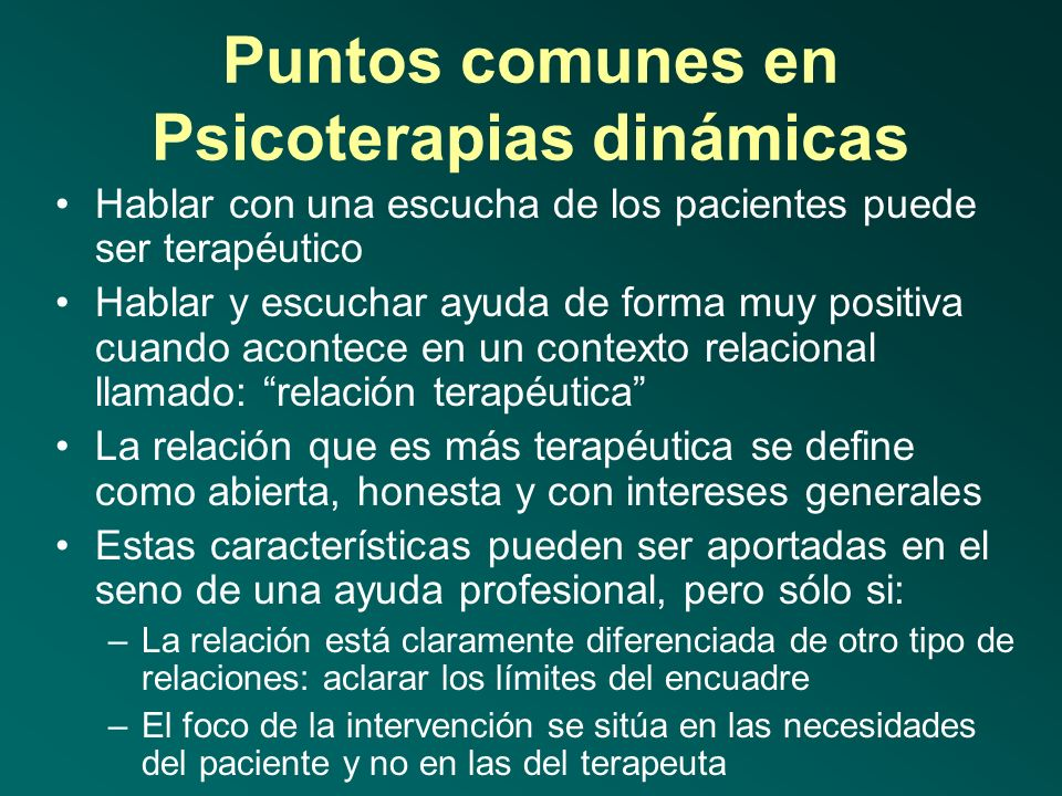 Posibilidades de cooperar en tratamiento psicoterapéutico Necesidad de Psicoterapia desde la perspectiva del paciente y/o familia ElevadaBaja Necesida