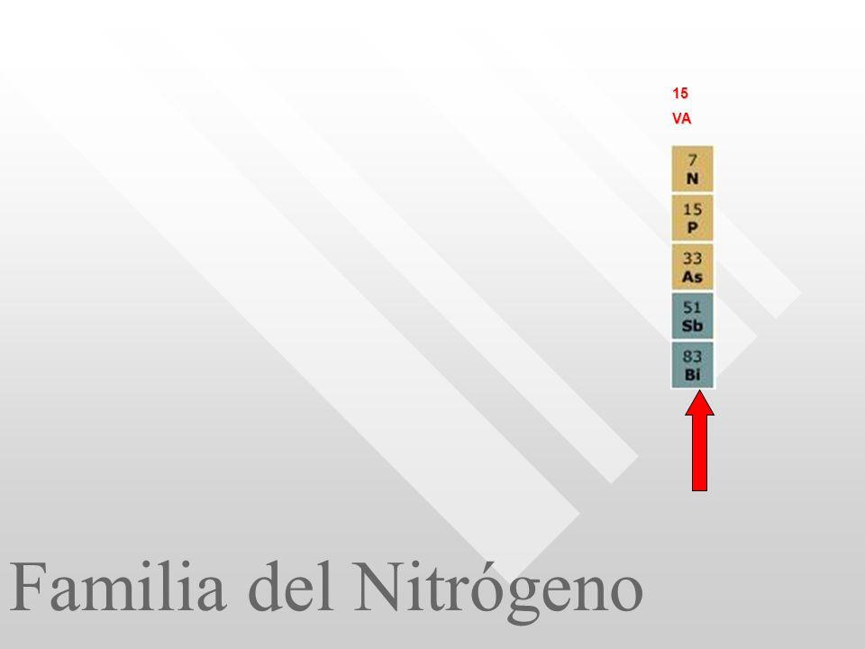 Familia del Nitrógeno 15VA