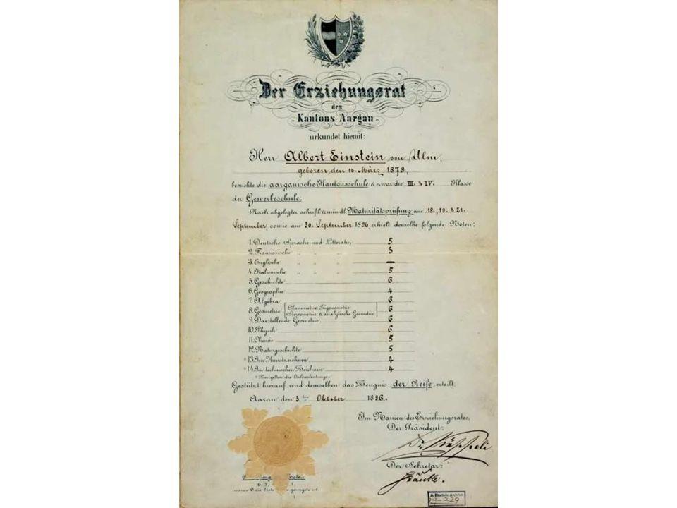 19.- ¿Albert Einstein fue un mal alumno en el colegio?