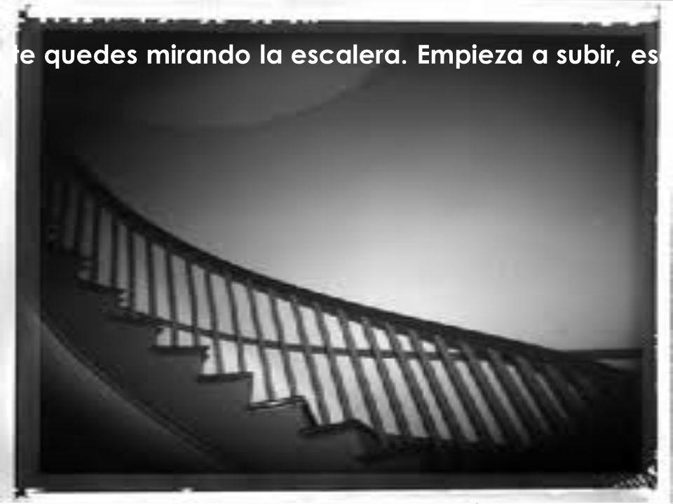 Si quieres triunfar, no te quedes mirando la escalera. Empieza a subir, escalón por escalón, hasta que llegues arriba.