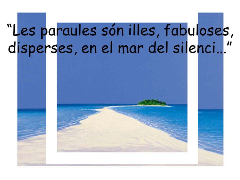 Les paraules són illes, fabuloses, disperses, en el mar del silenci...