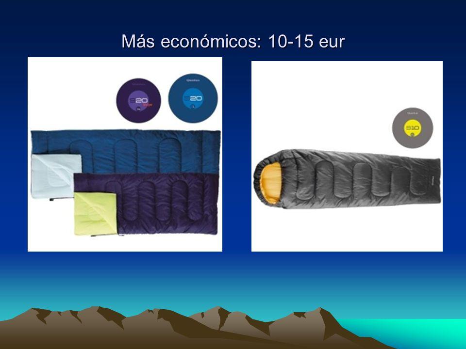 Más económicos: 10-15 eur