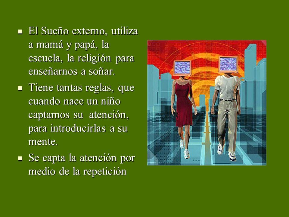 El Sueño externo, utiliza a mamá y papá, la escuela, la religión para enseñarnos a soñar. El Sueño externo, utiliza a mamá y papá, la escuela, la reli