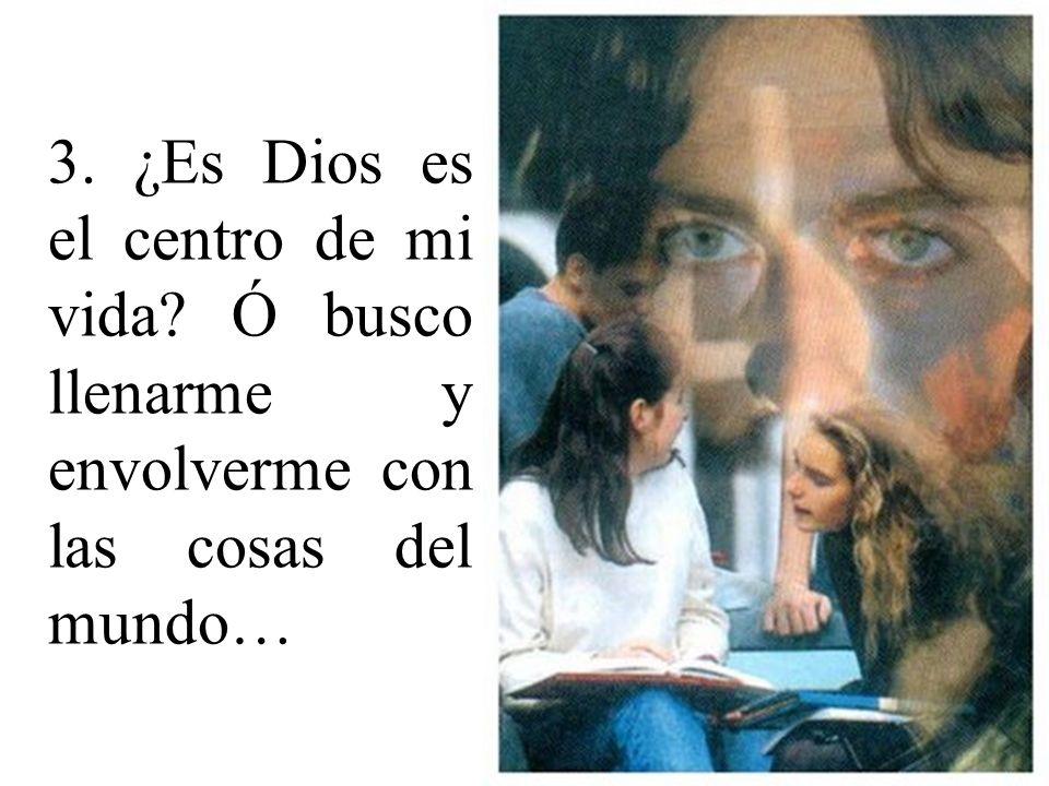 Como miembro de JMV: 1. ¿Cómo vivo mi Fe, mi vida de oración y de acercamiento a los sacramentos? 2. La armonía: - Con Dios. - Conmigo mismo. - Con lo