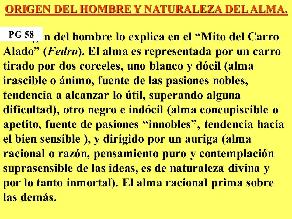 ORIGEN DEL HOMBRE Y NATURALEZA DEL ALMA.