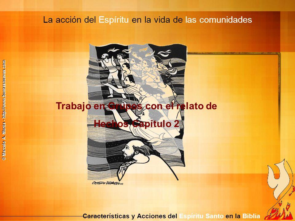 La acción del Espíritu en la vida de las comunidades Características y Acciones del Espíritu Santo en la Biblia Trabajo en Grupos con el relato de Hec