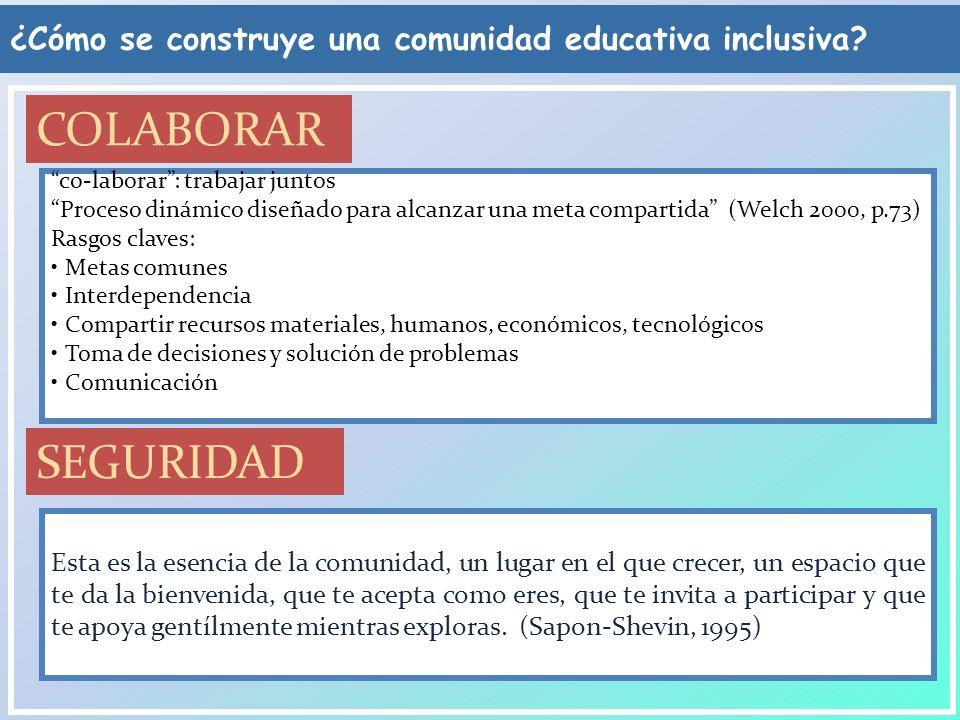 ¿Cómo se construye una comunidad educativa inclusiva? Esta es la esencia de la comunidad, un lugar en el que crecer, un espacio que te da la bienvenid