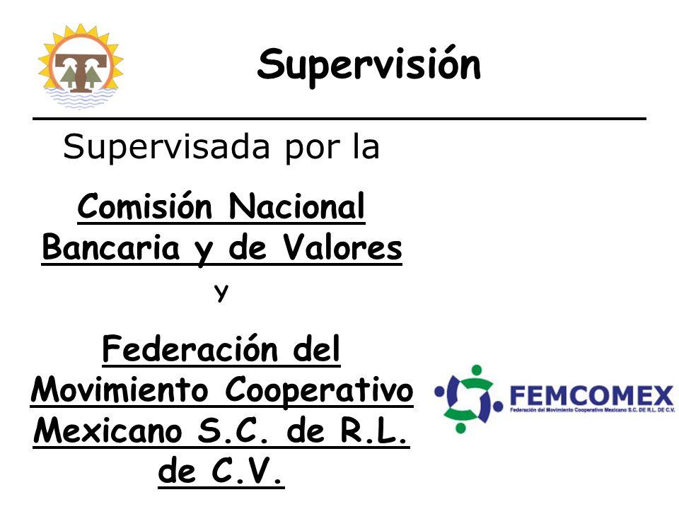 Supervisión Supervisada por la Comisión Nacional Bancaria y de Valores Y Federación del Movimiento Cooperativo Mexicano S.C.