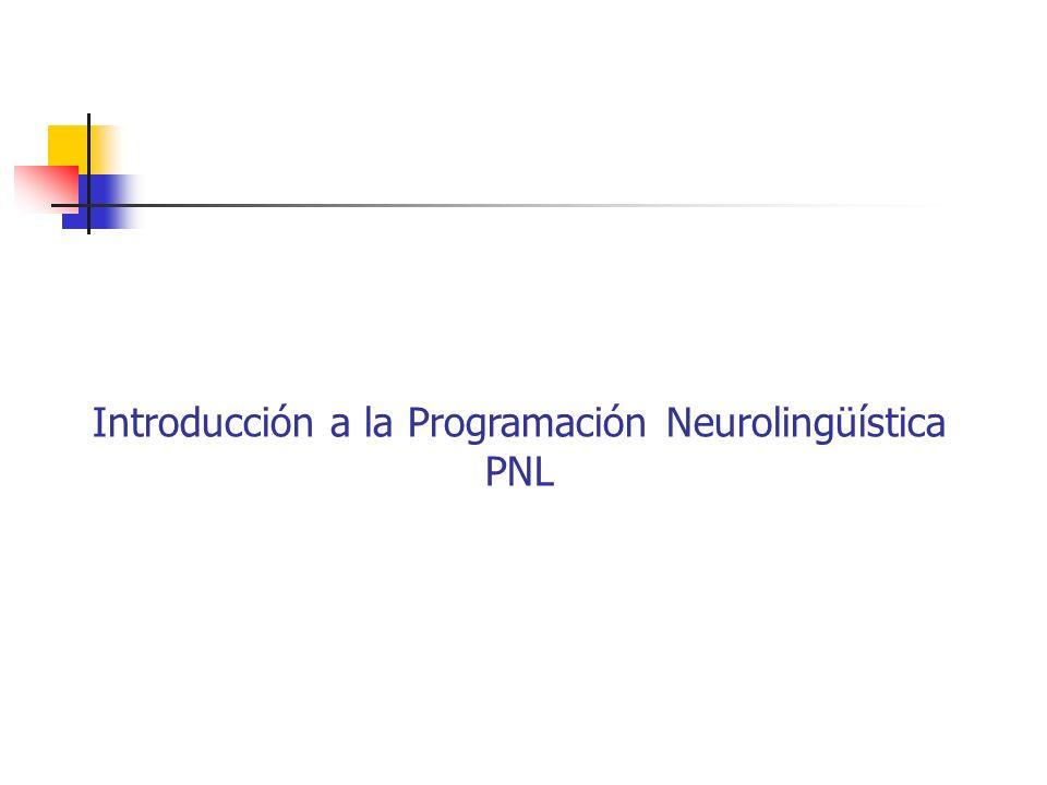 Introducción a la Programación Neurolingüística PNL