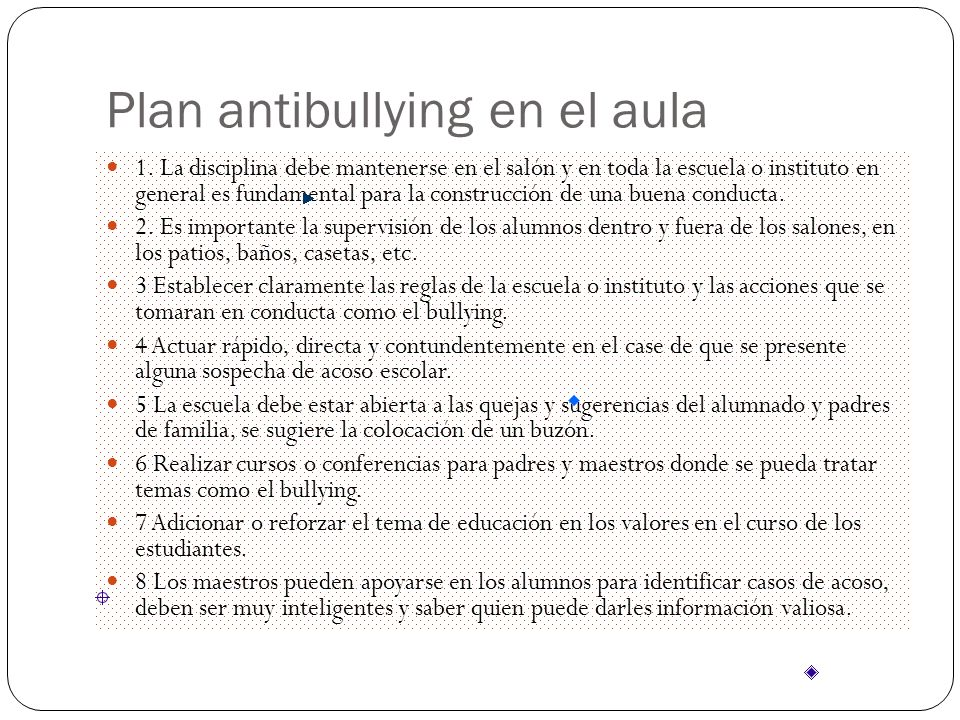 Plan antibullying en el aula 1.