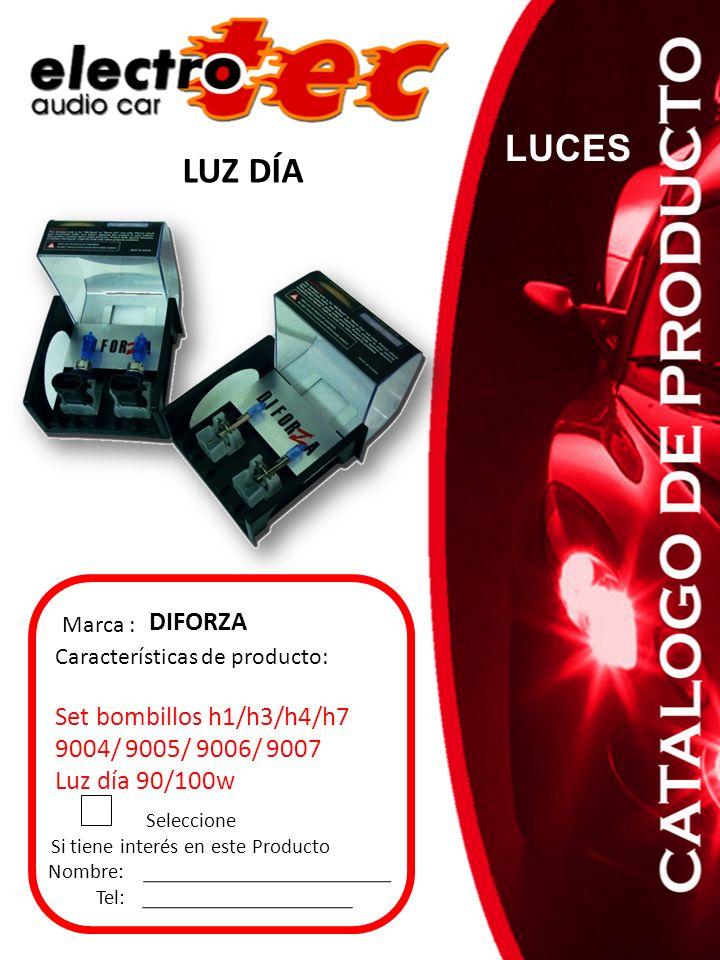 Seleccione Si tiene interés en este Producto Nombre: Tel: Características de producto: Set bombillos h1/h3/h4/h7 9004/ 9005/ 9006/ 9007 Luz día 90/100