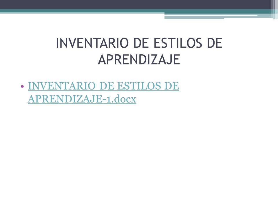 INVENTARIO DE ESTILOS DE APRENDIZAJE INVENTARIO DE ESTILOS DE APRENDIZAJE-1.docxINVENTARIO DE ESTILOS DE APRENDIZAJE-1.docx