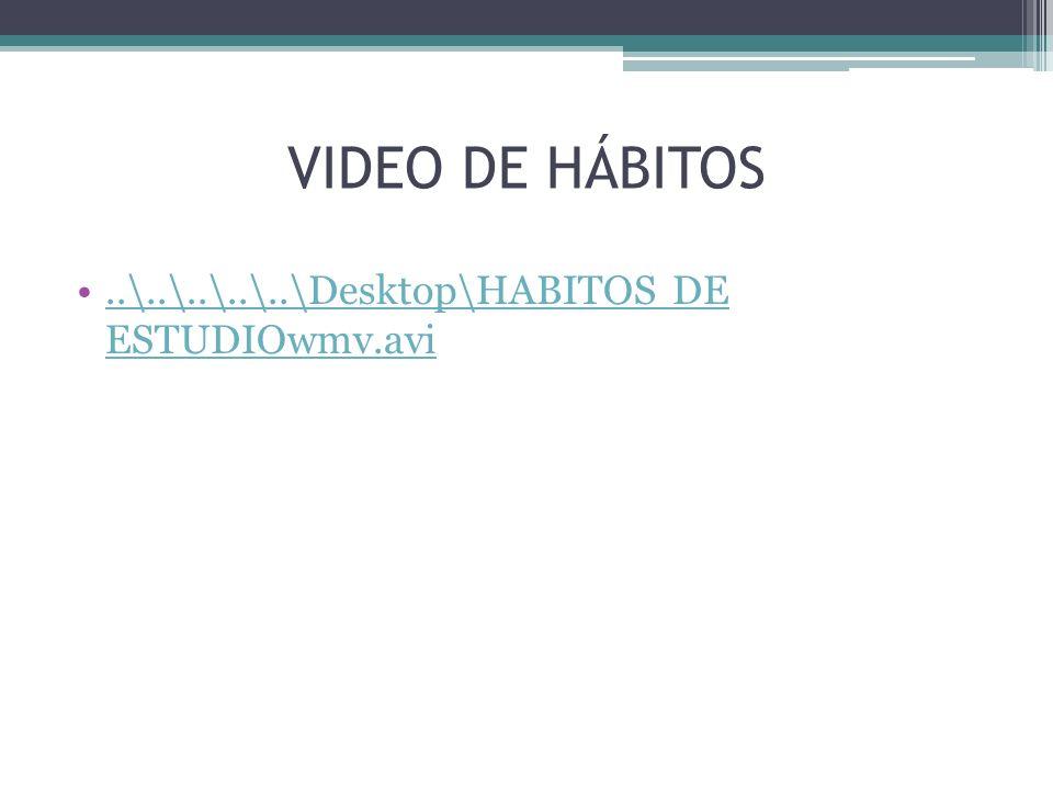 VIDEO DE HÁBITOS..\..\..\..\..\Desktop\HABITOS DE ESTUDIOwmv.avi..\..\..\..\..\Desktop\HABITOS DE ESTUDIOwmv.avi