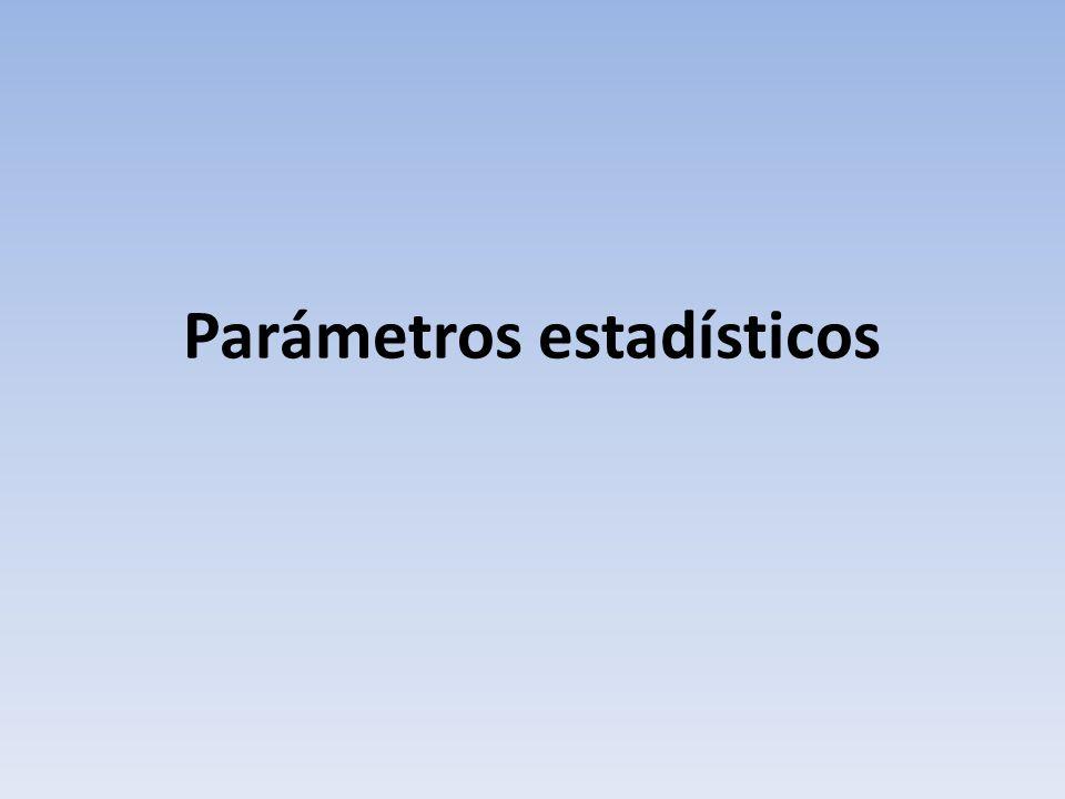 Definición de parámetro estadístico: Un parámetro estadístico es un número que se obtiene a partir de los datos de una distribución estadística.