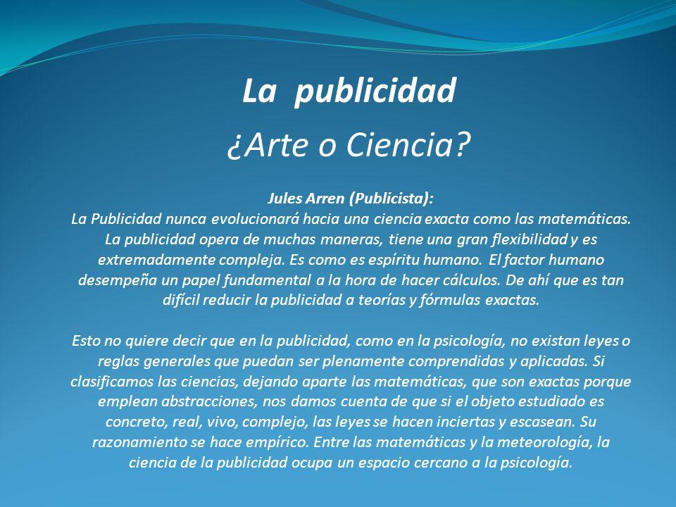 La publicidad ¿Arte o Ciencia.
